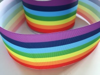 Horizontal Rainbow Grosgrain Ribbon