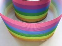 "3"" Pastel Rainbow Grosgrain Ribbon"