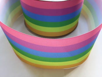"3"" Pastel Rainbow Grosgrain Ribbon"