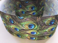 "3"" Peacock Grosgrain Ribbon"
