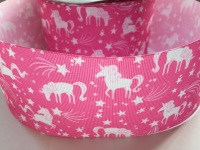 "3"" Pink Unicorn Grosgrain Ribbon"