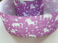 "3"" Purple Unicorn Grosgrain Ribbon"