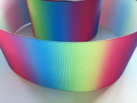"3"" Vertical Rainbow Ombre Grosgrain Ribbon"
