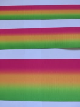 Pink/Orange/Green Ombre Grosgrain Ribbon