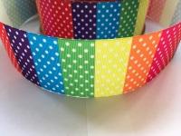 "2"" Rainbow Dots Grosgrain Ribbon"