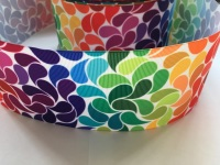 "3"" Rainbow Pattern Grosgrain Ribbon"