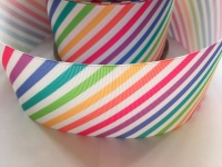 "3"" New Rainbow Stripes Grosgrain Ribbon"