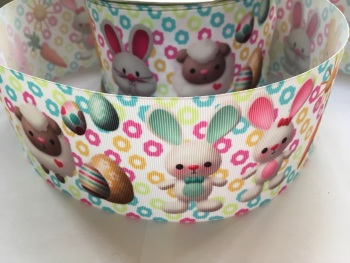 "3"" Sheep & Bunnies Grosgrain Ribbon"