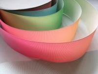 """2"""" Pastel Colour Change Grosgrain Ribbon"""