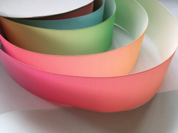 "2"" Pastel Colour Change Grosgrain Ribbon"