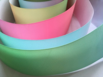 "3"" Pastel Colour Change Grosgrain Ribbon"
