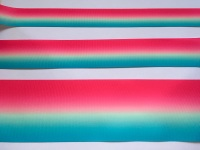 Bright Pink/Aqua Ombre Grosgrain Ribbon