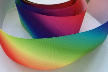 "2"" Diagonal Ombre Grosgrain Ribbon"