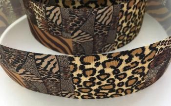 "2"" Leopard Print Grosgrain Ribbon"