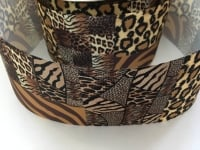 "3"" Leopard Print Grosgrain Ribbon"