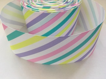 Pastel Stripes Grosgrain Ribbon