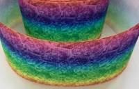 "3"" Rainbow Ombre Pattern Grosgrain Ribbon"