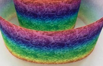 """3"""" Rainbow Ombre Pattern Grosgrain Ribbon"""