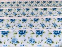Blue Floral Grosgrain Ribbon