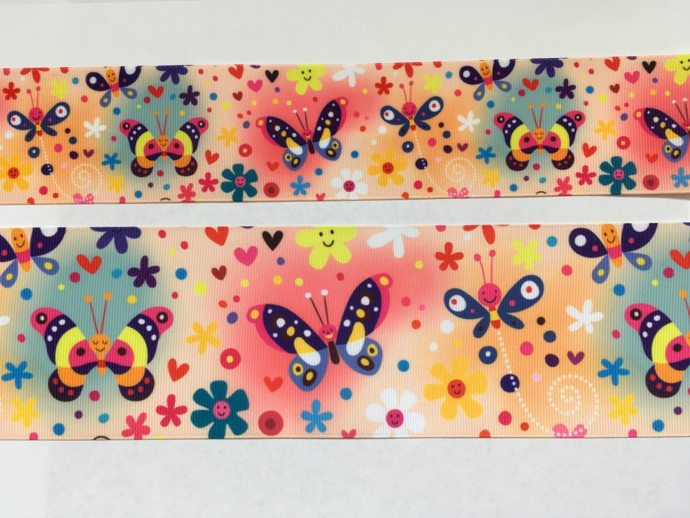 Butterflies Grosgrain Ribbon