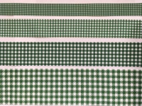 Forest Green Gingham Check Grosgrain Ribbon