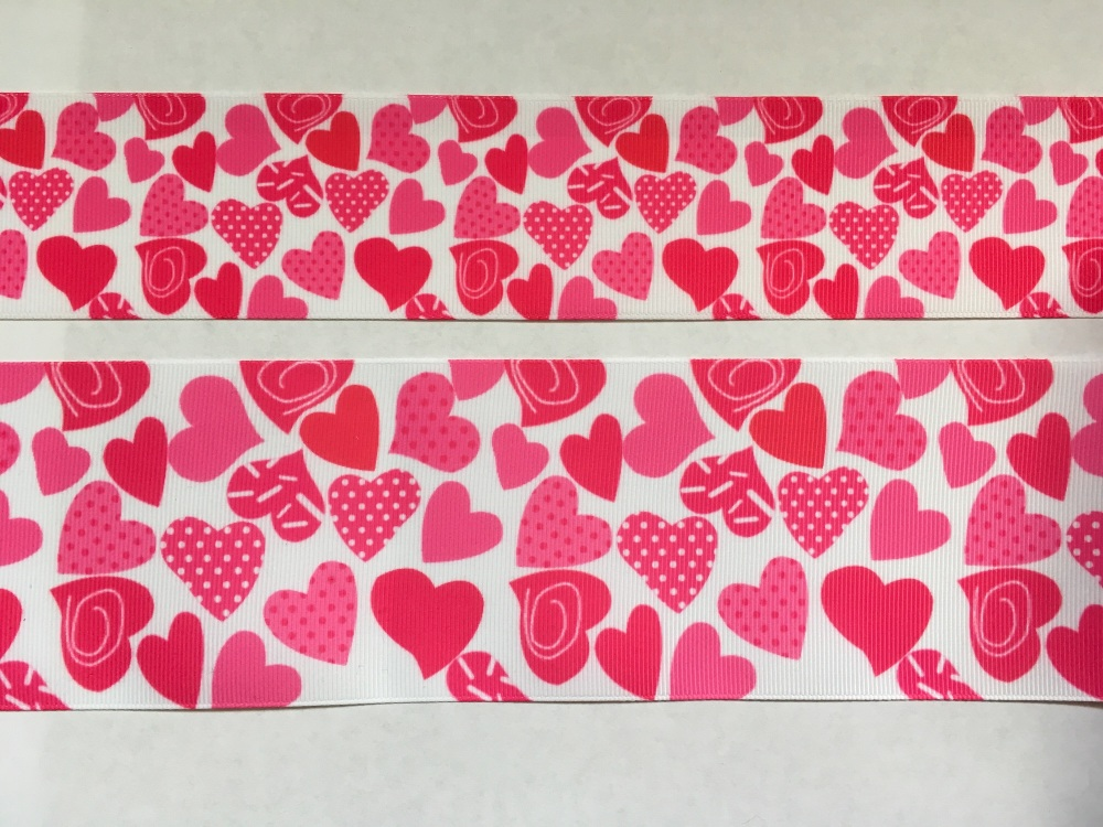 Hearts Grosgrain Ribbon