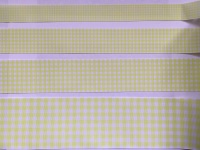 Lemon Gingham Check Grosgrain Ribbon