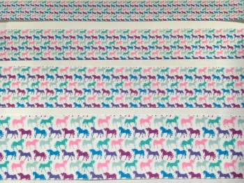 Multi Unicorn Grosgrain Ribbon