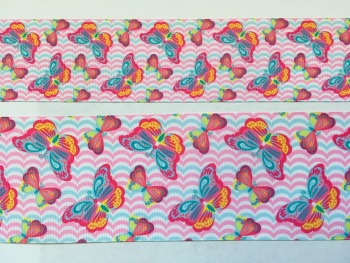 NEW Butterflies Grosgrain Ribbon