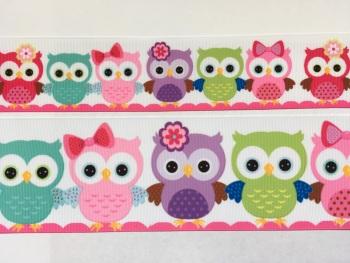 Owls Grosgrain Ribbon