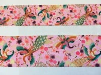 Peacock Floral Grosgrain Ribbon