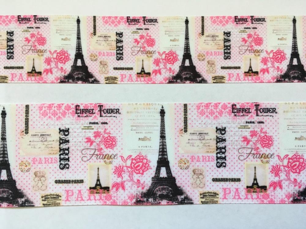 Pink Paris Grosgrain Ribbon