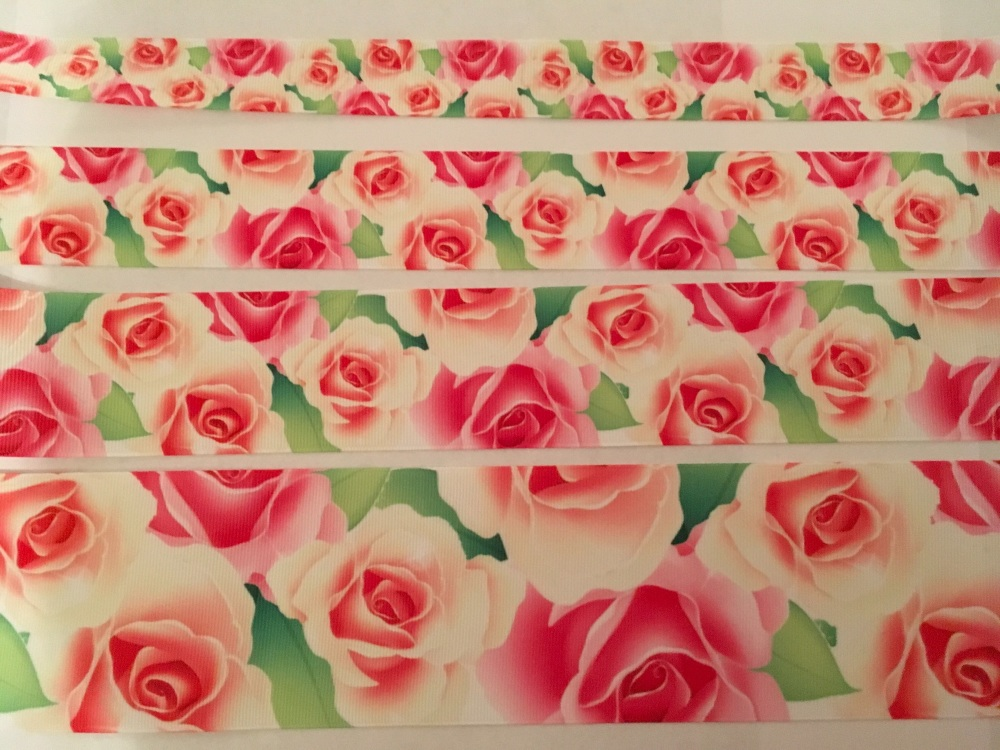 Roses Grosgrain Ribbon
