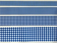 Royal Gingham Check Grosgrain Ribbon