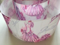 Pink Ballet Grosgrain Ribbon
