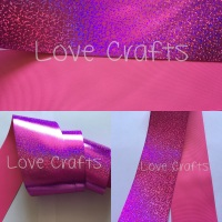 "3"" Hot Pink Shizzle on Hot Pink Grosgain Ribbon"