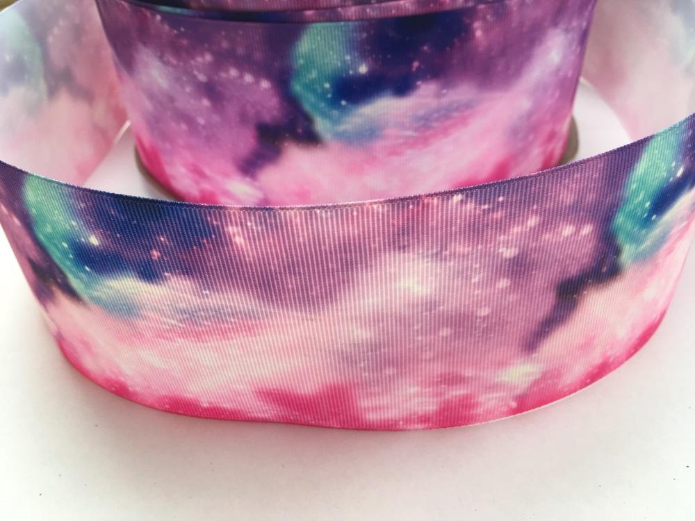 Galaxy Grosgrain Ribbon