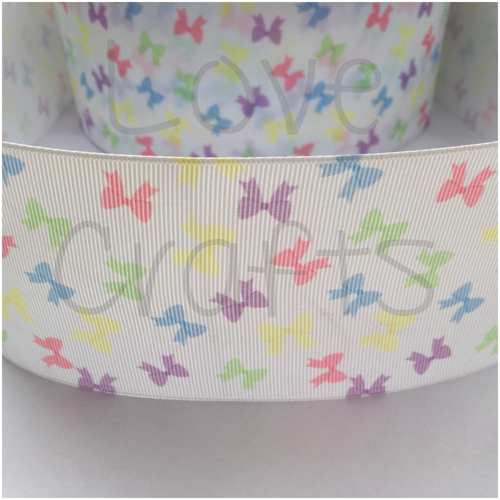 Love Crafts Pastel Bows Grosgrain Ribbon