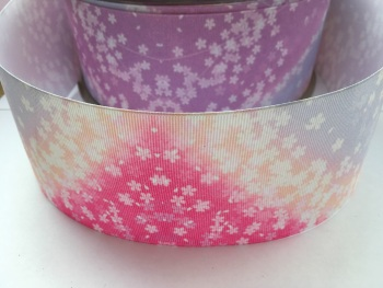 Pastel Flowers Grosgrain Ribbon