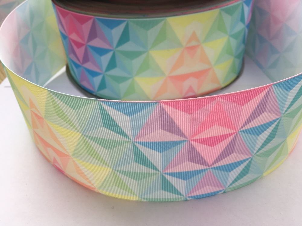 Pastel Triangles Grosgrain Ribbon
