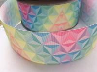 Pastel Triangles Grosgrain Ribbon