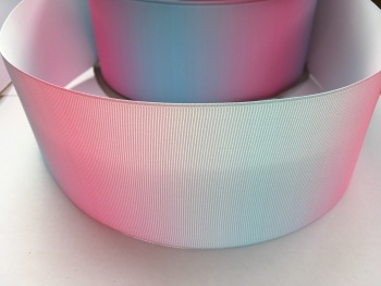 Pink/Blue Vertical Ombre Grosgrain Ribbon