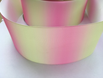 Pink/Yellow Vertical Ombre Grosgrain Ribbon