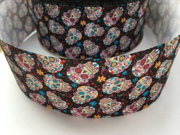 Skulls Grosgrain Ribbon