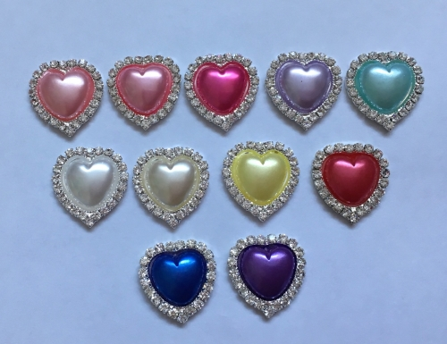 Bling Pearl Heart Centre