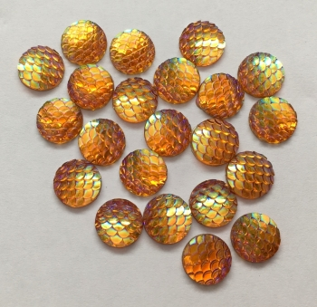 10 Gold Mermaid Scale Flatbacks