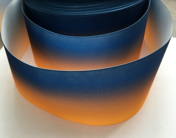 Navy/Gold Ombre Grosgrain Ribbon