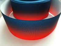 Navy/Red Ombre Grosgrain Ribbon