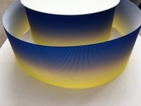 Electric Blue/Lemon Ombre Grosgrain Ribbon