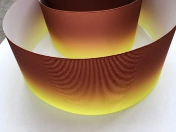 Yellow/Brown Ombre Grosgrain Ribbon